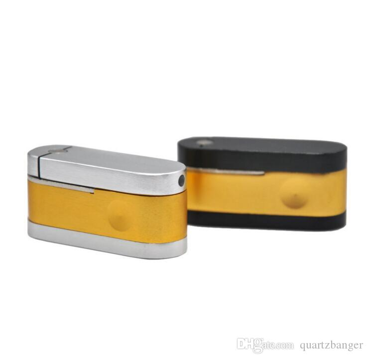 Pipe Métal Mesh laiton main Chrome poche Tabac pliable singe Tuyau MiniCheap Fumer Accessoires Tourbillons Bols