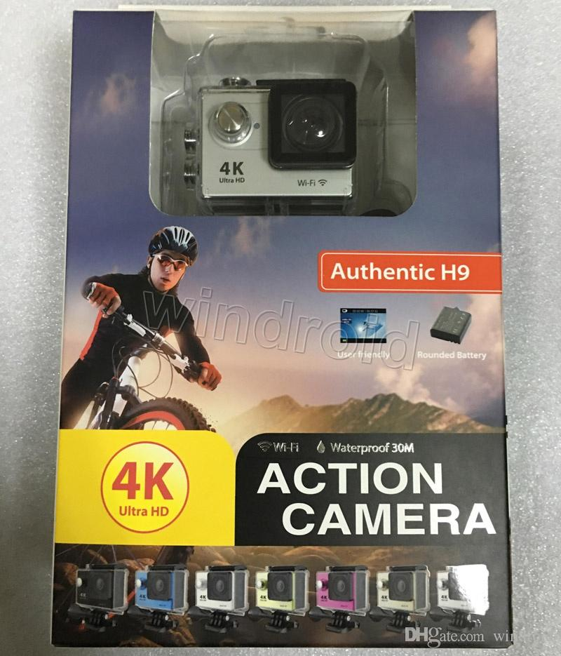 EKEN H9 Ultra HD 4K Video Action Camera 170 degrees Wide Angle Sports Camera 2 inch LCD Screen WIFI HDMI 1080p 60fps Waterproof