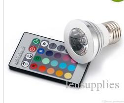 Vendita calda 3W E27 GU10 MR16 E14 LED RGB Spotlight i che cambiano Luci LED con controller wireless la festa a casa