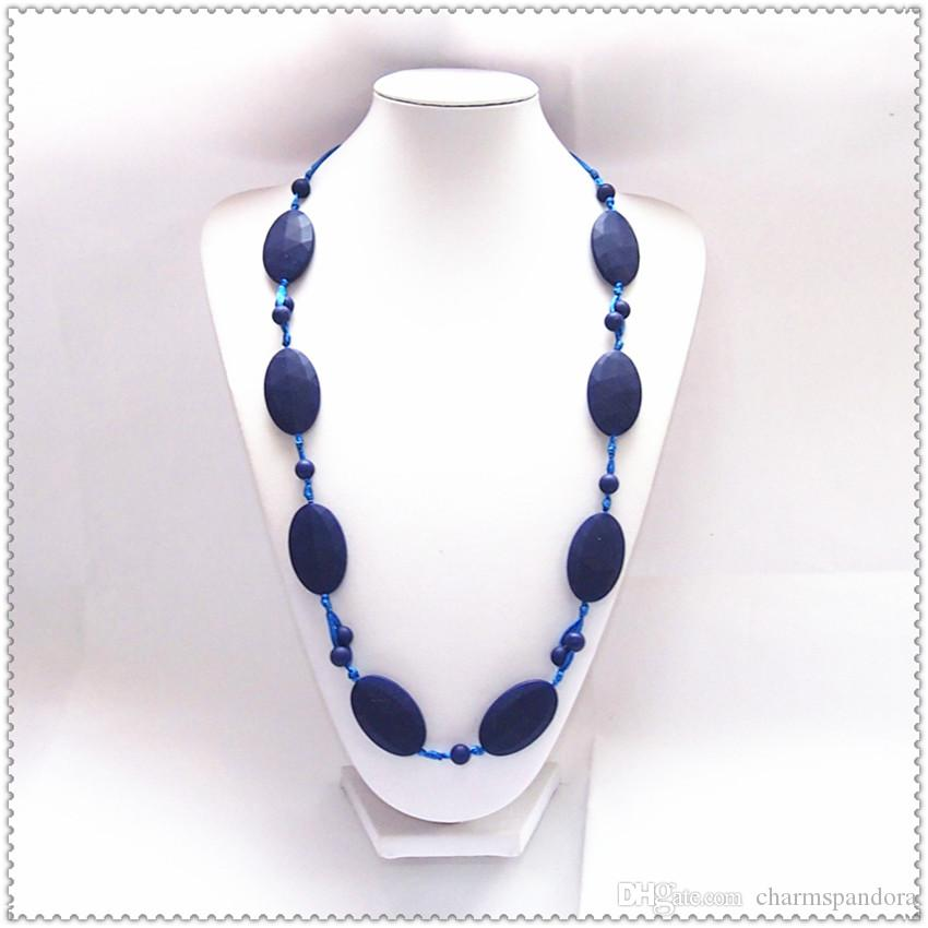 DIY Silicone Teething Bead /Nursing Necklace BPA Free, FDA Approved Food-Grade Silicone!Nursing Chewelry Necklaces/Trendy Teething Toy-M82