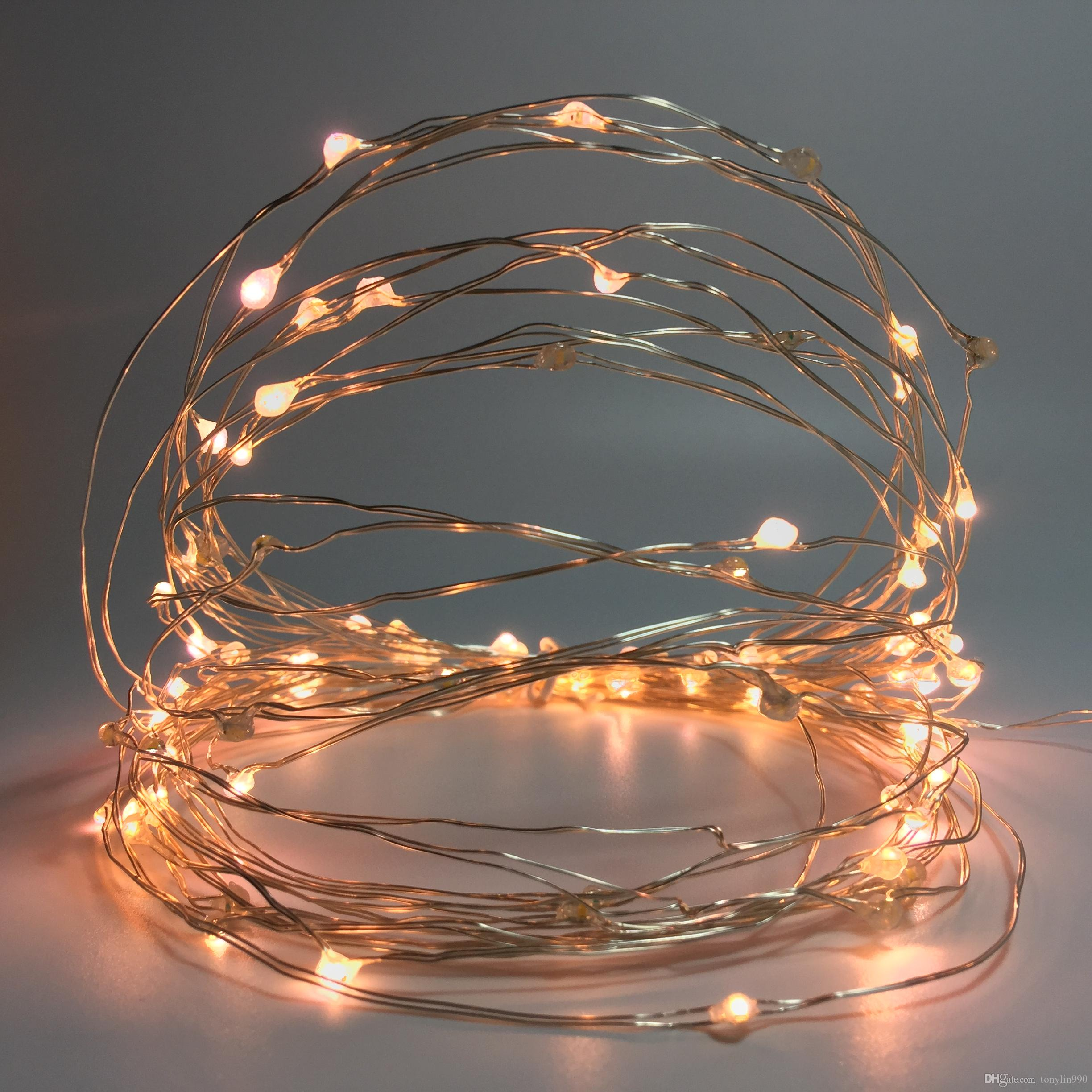 33ft 100 Twinkling Leds Warm White Starry String Lights With 8 ...