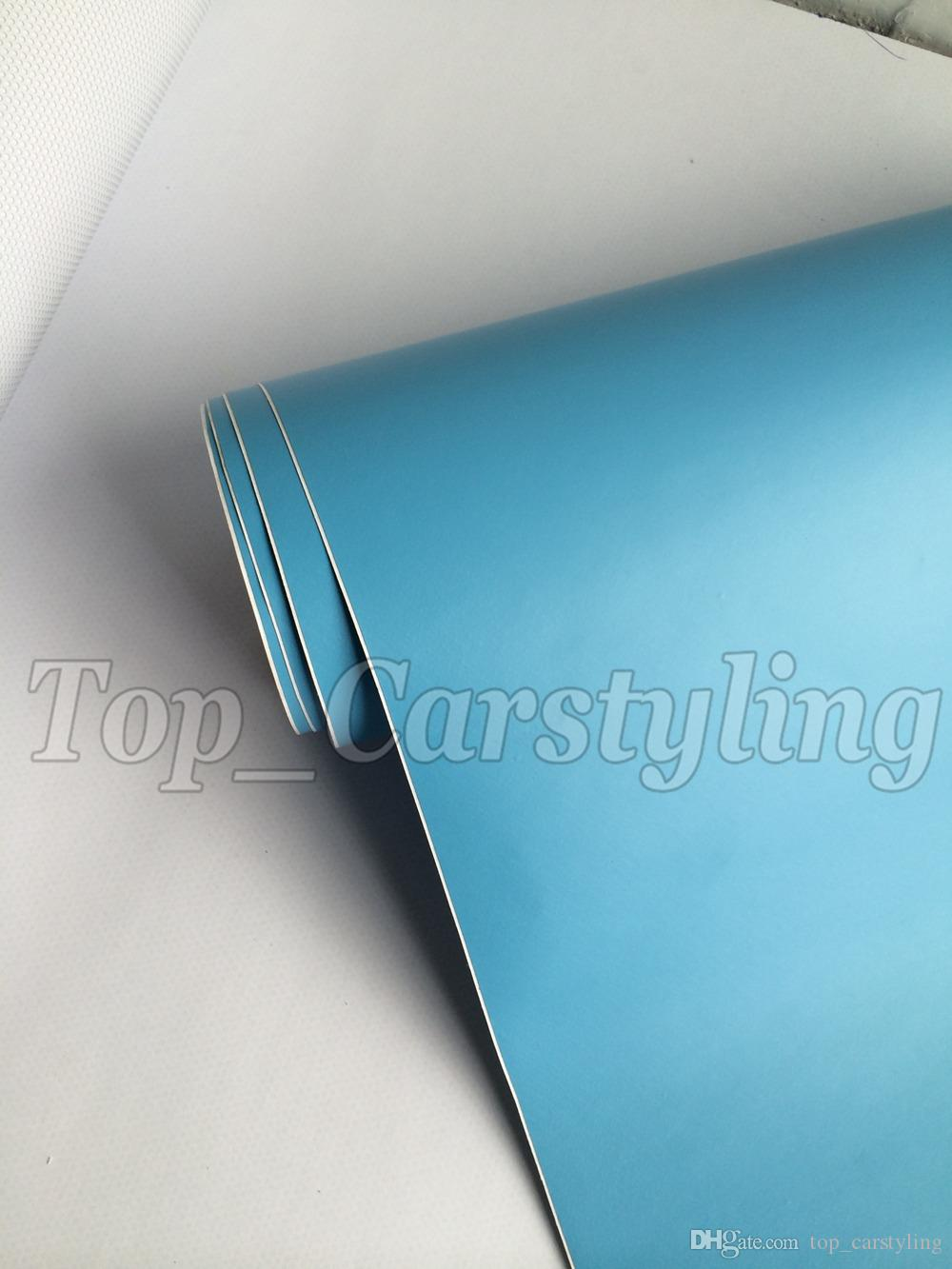 Baby Blue Matte Car Wrap Film With Air Bubble Free Matt Vinyl For Vehicle Wrapping Body Covers foil Vinyle 1.52x30m/Roll 5ftx98ft