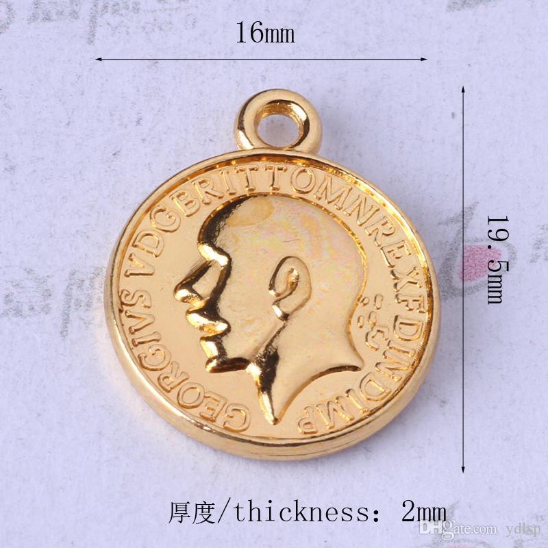 Gran cabeza y héroe ronda Colgante anqitue Plata / bronce Encantos Fit Pulseras o Collar de Joyería DIY 200 unids / lote 142z