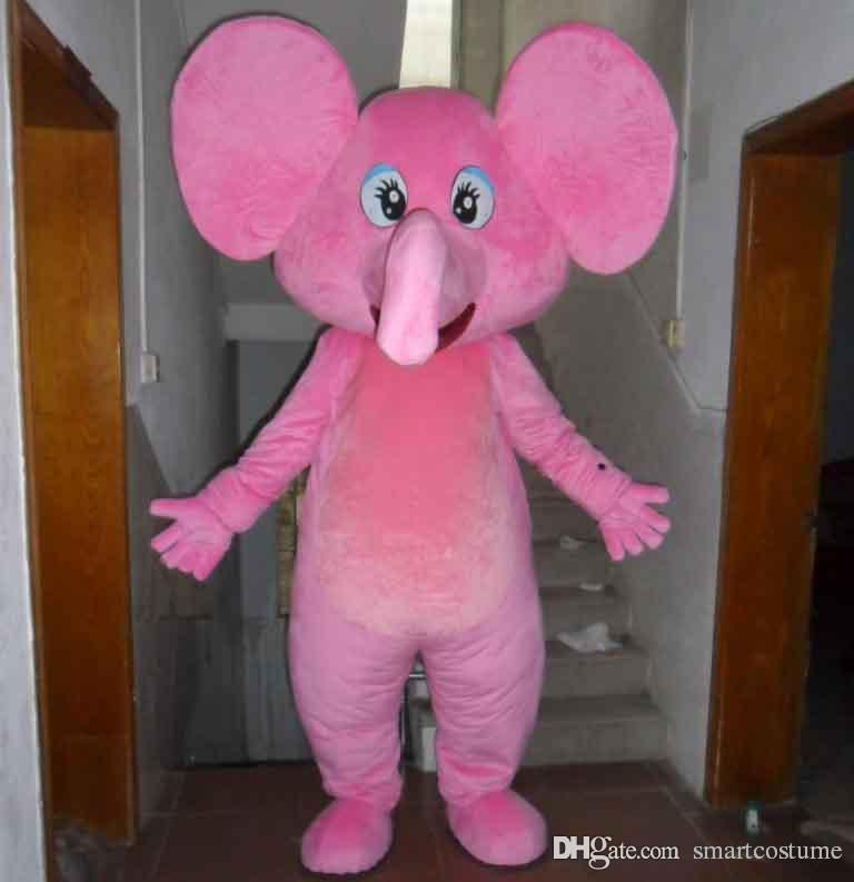 sx0723 light and easy to wear a pink elephant mascot costume with