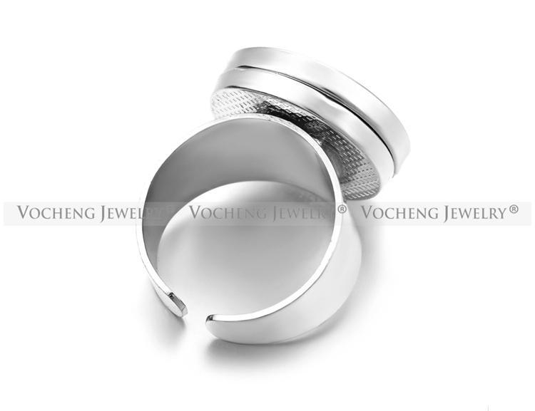 VOCHENG NOOSA Bouton interchangeable ajustable 18mm pour anneaux d'arrêt au gingembre NN-395