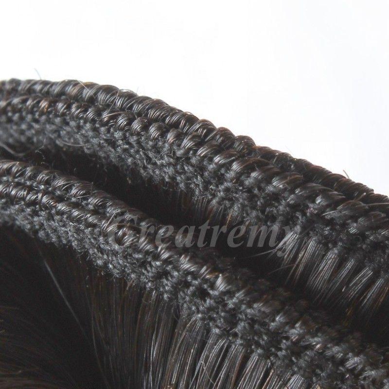 4 pçs / lote comprimento misto 100% peruano não processado extensão de cabelo humano 8