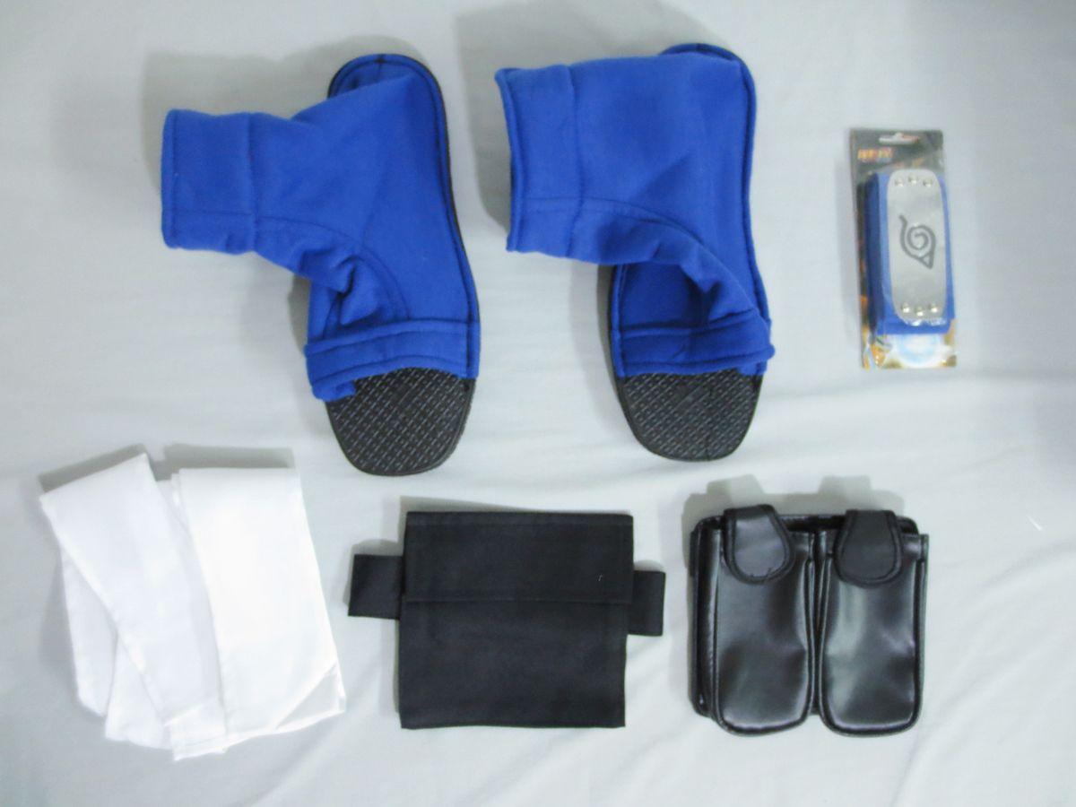 Naruto Shino Aburame Cosplay Costume and Accessories Set