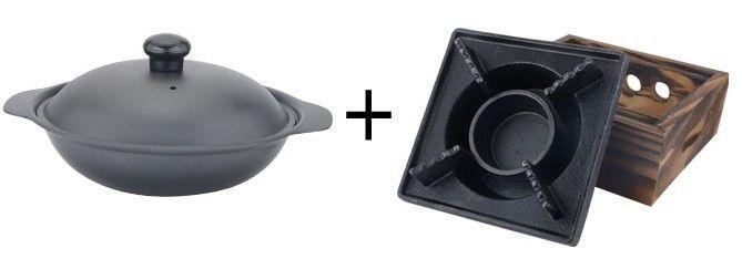 Mini stufa in ghisa in legno bbq piazza Griglie caratteristica solido piccolo piatto caldo con vaso la casa Albergo pic-nic all'aperto 034