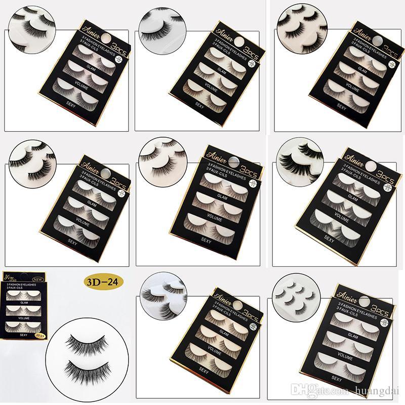 f35553561b5 3D Mink Hair Eyelashes /Pack Natural Long Soft Black 3D Eye Lashes Makeup  Handmade Thick Fake False Eyelashes High Qualtiy Natural False Eyelashes  Party ...