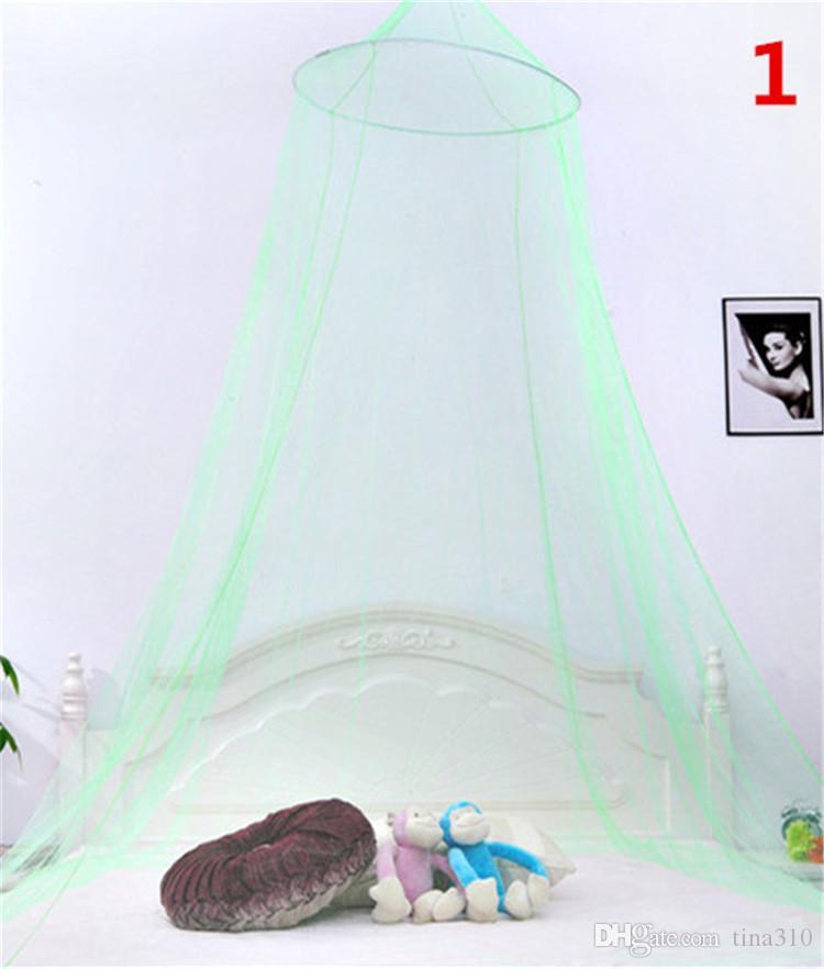 Elegante Runde Spitze Insekt Betthimmel Netting Vorhang Dome Moskitonetz Neue Haus Bettwäsche Dekor IB518