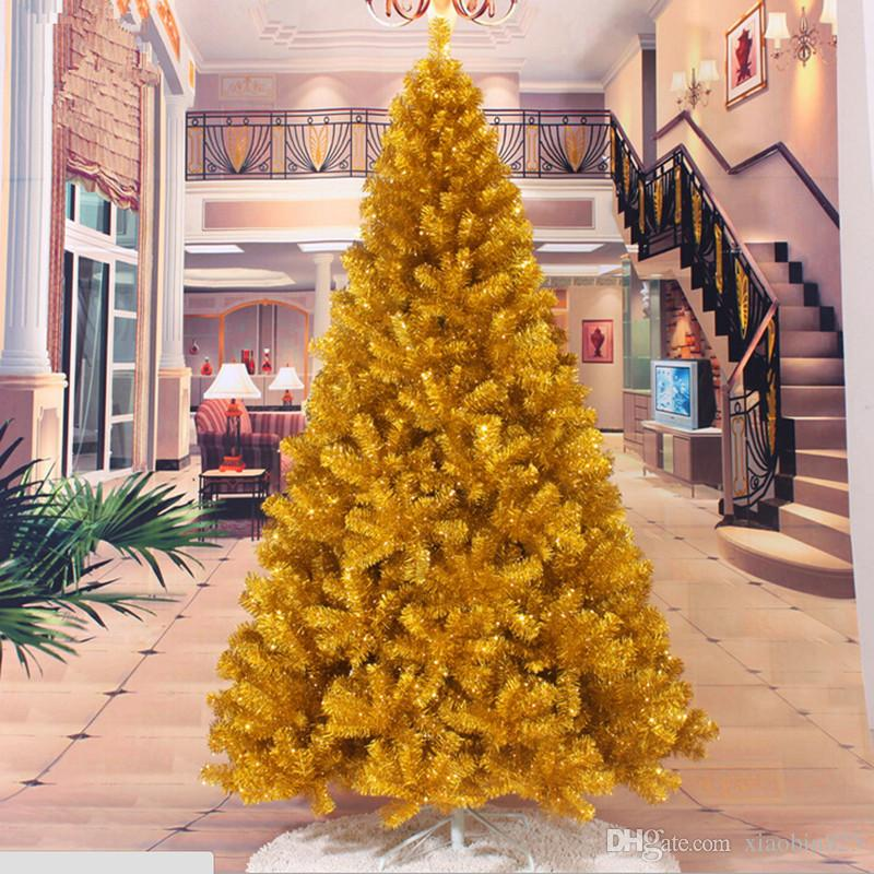 christmas tree factory outlets 24 m 240cm gold christmas tree decorated christmas tree decorations gift sale christmas decor sale christmas decorations - Christmas Decorations Factory Outlet