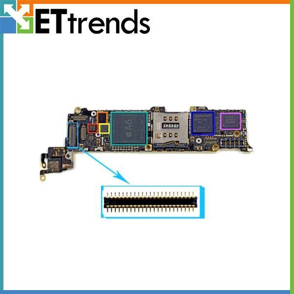 Original New Digitizer FPC-Anschluss Onboard für iPhone 5S Noten-Digitizer FPC-Anschluss replacemnt freies Verschiffen durch DHL