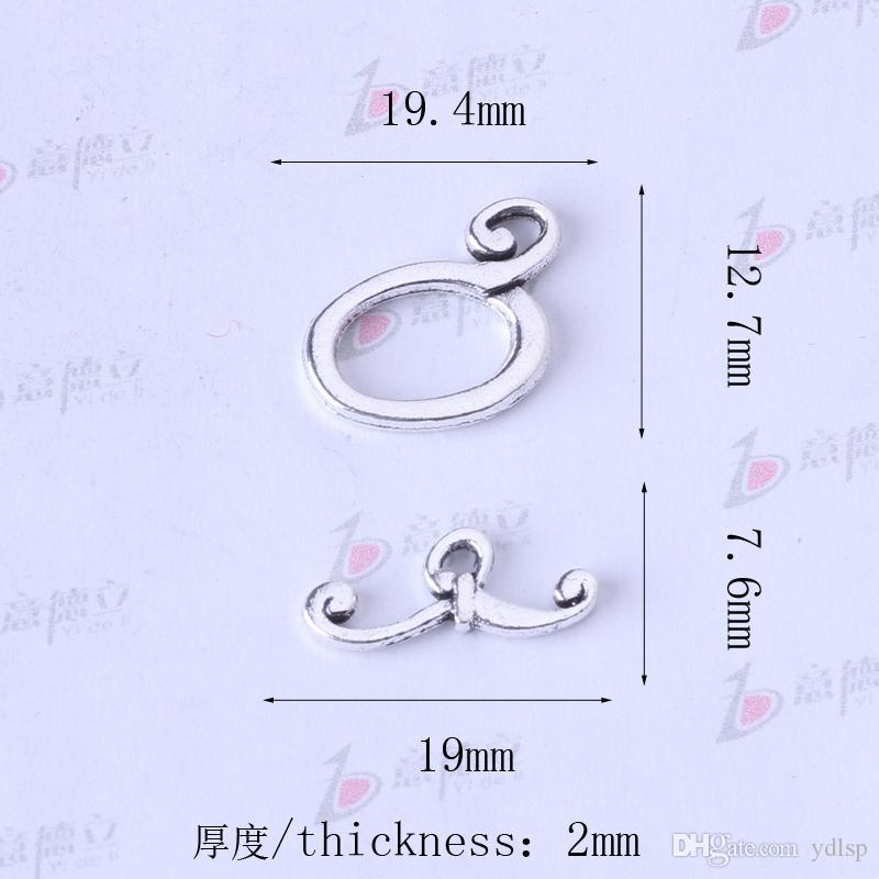 Forma de la barba OT hebilla colgante de joyería DIY fit collar o pulseras de plata antigua / bronce encanto 225 unids / lote 3316