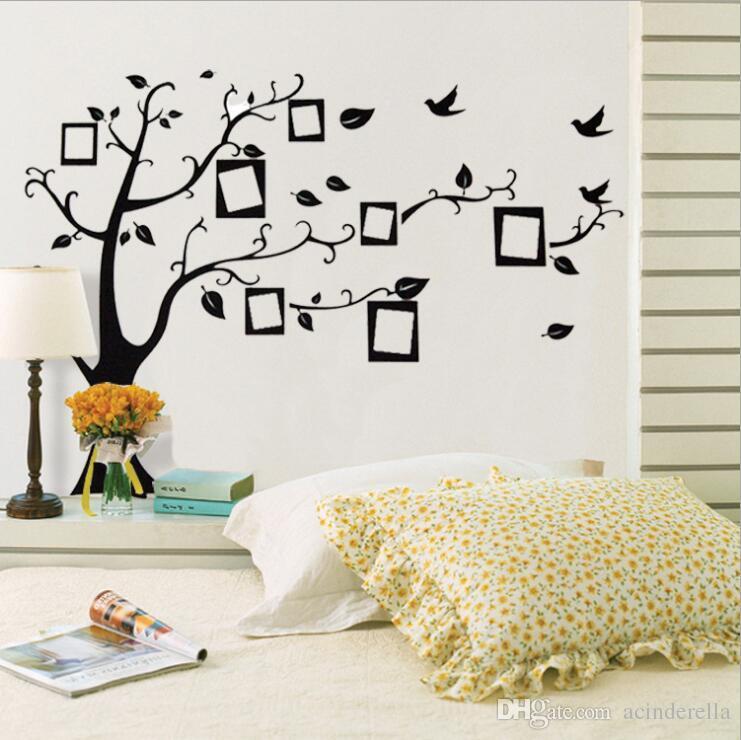 Compre Large Room Photo Frame Decoração Family Tree Wall Decal Sticker  Poster Em Uma Parede Sticker Tree Wallpaper Kids Art Sala De Estar Quarto  Quarto De ...