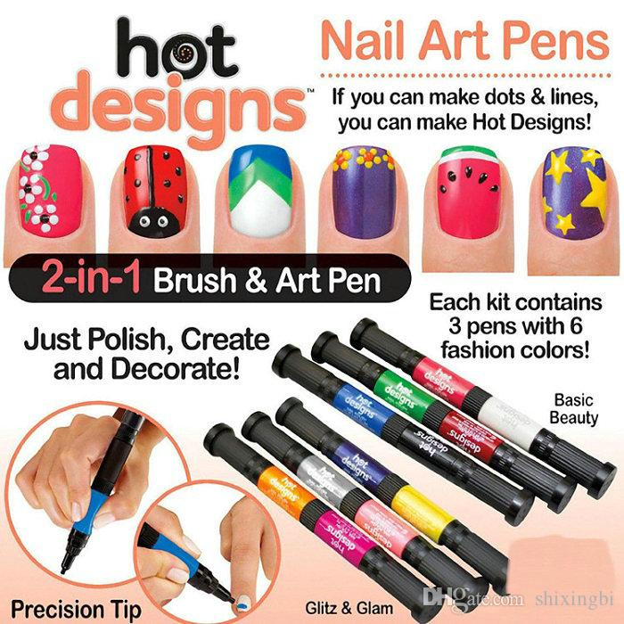 Basic Beauty Hot Designs Glitz And Glam Nail Art Pens Salon Polish ...