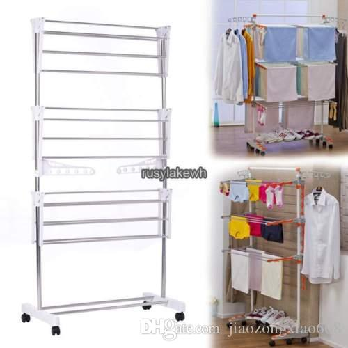 2018 Steel Folding Laundry Clothes Drying Rack Organizer Dryer