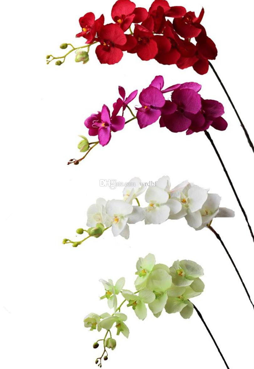 Artificial orchid flowers long stem fake flowers single vanda artificial orchid flowers long stem fake flowers single vanda phalaenopsis cymbidium for xmas event party wedding home decoration silk orchids artificial mightylinksfo