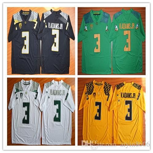 official photos bf69d d56fc 2017 Men UCLA Bruins #3 Vernon Adams Jr college jerseys adult Quality  football jersey Black green White yellow size S-XXXL free shipping