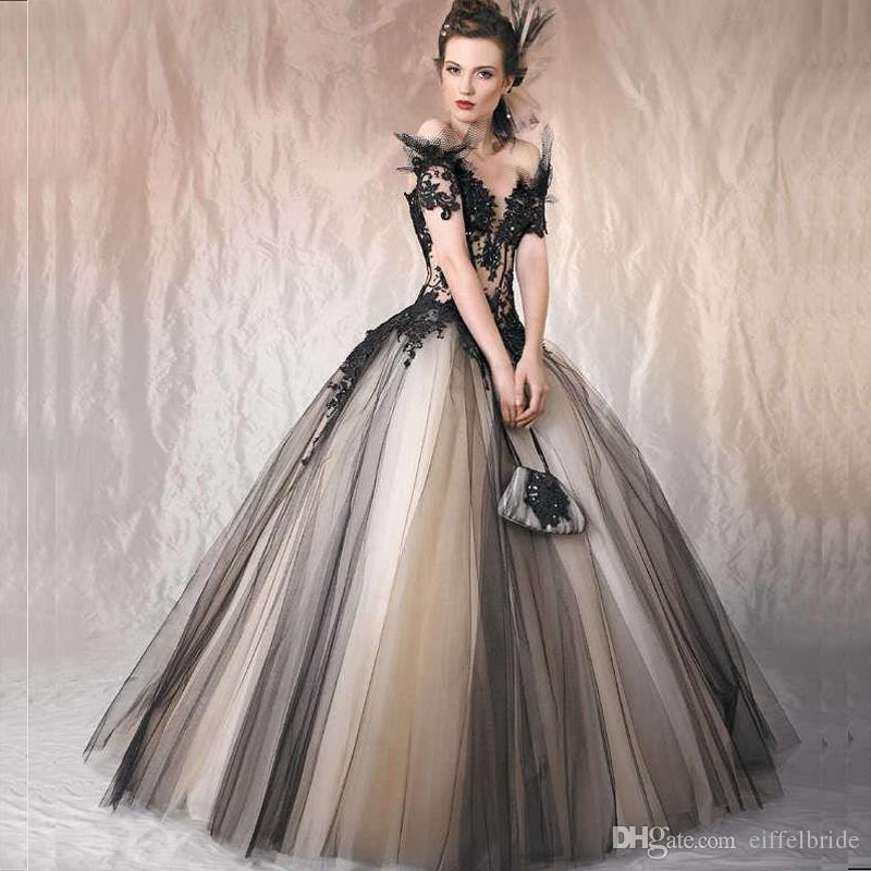 Cheap Wedding Dresses To Rent: Discount 2016 Fashion Country Gothic Wedding Dresses Sexy