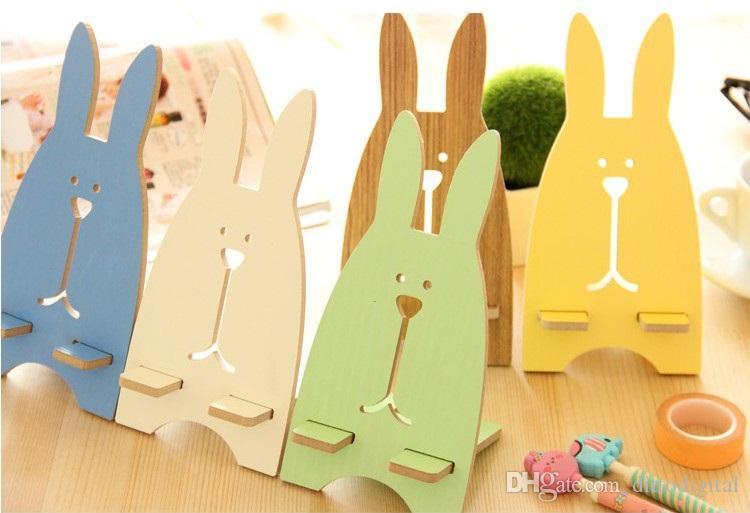 porta telefono in legno a forma di coniglio tutti i telefoni cellulari, LOGO personalizzato, i opzione, decorazione domestica