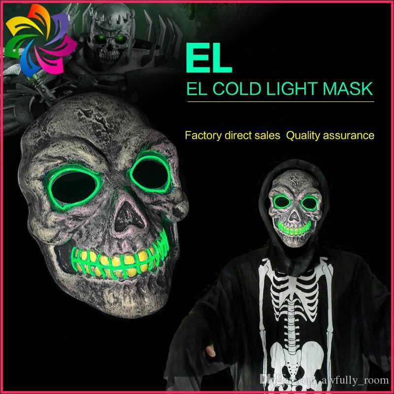 Großhandel Led Halloween Ghost Masken Die Reinigung Wahl Jahr Maske ...
