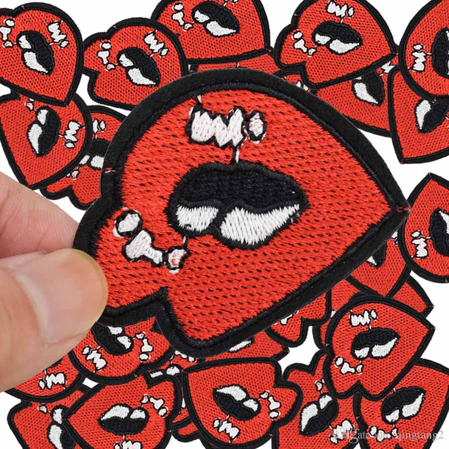 lips patches for clothing iron patch for cloth applique sewing supplies accessories stickers on clothes iron on embroidery badge patch