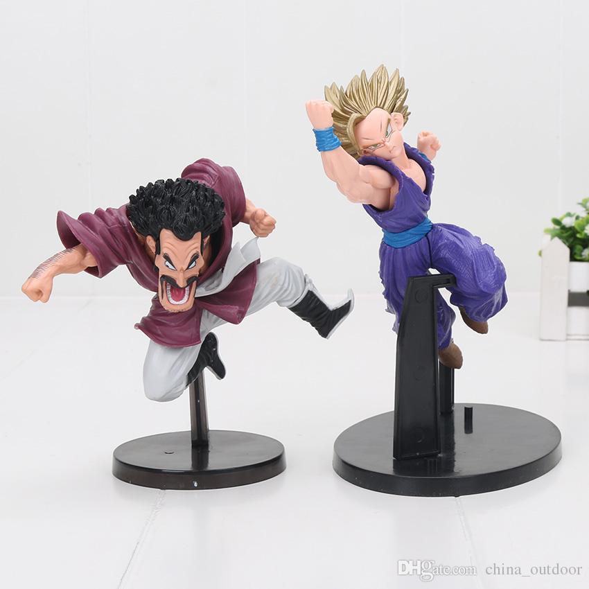 Anime Dragon Ball Z Figura Super Saiyan Son goku Gohan hercule Mark Broly scolpisce la bambola dei giocattoli del modello di grande azione