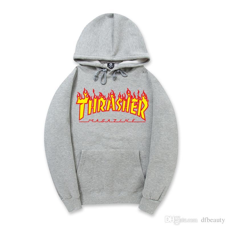 Alta calidad UNISEX Fire carta Men's Hoodies hip hop pullover de los deportes juveniles de manga larga sudaderas de lana sudaderas con capucha de los hombres y las mujeres sudaderas