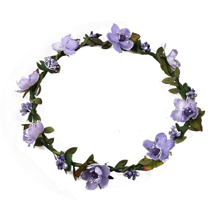 Guirnalda de flores de Terylene Bohemia Garland Crown Festival boda nupcial Dama de honor floral diadema BOHO Tocado Headpiece accesorios para el cabello
