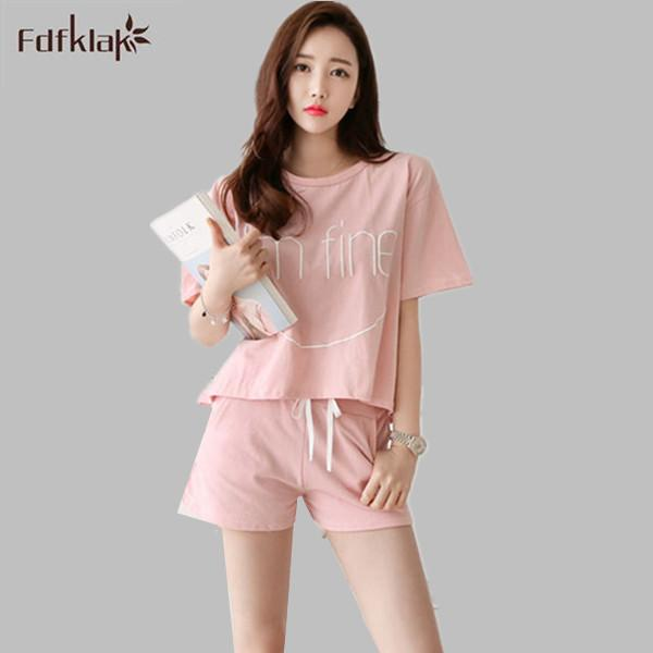 2019 Wholesale Home Clothes For Women Summer Shorts Sets Pyjama Femme  Pajama Women S Pijamas Mujer Large Size Tracksuit Sleepwear XXL E0142 From  Xaviere 20cf7d927ff