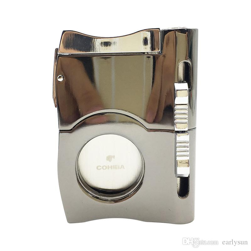 High Grade Cigarette Accessory Fashion Portable Multi Function Travel Tool Ciagr Cutter Punch Fit Cohiba Cigar Cutter