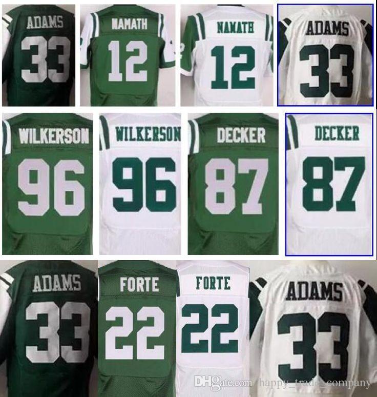 c875e30bcdc ... order 2017 33 jamal adams jersey men 22 matt forte 96 muhammad 87 eric  decker jerseys