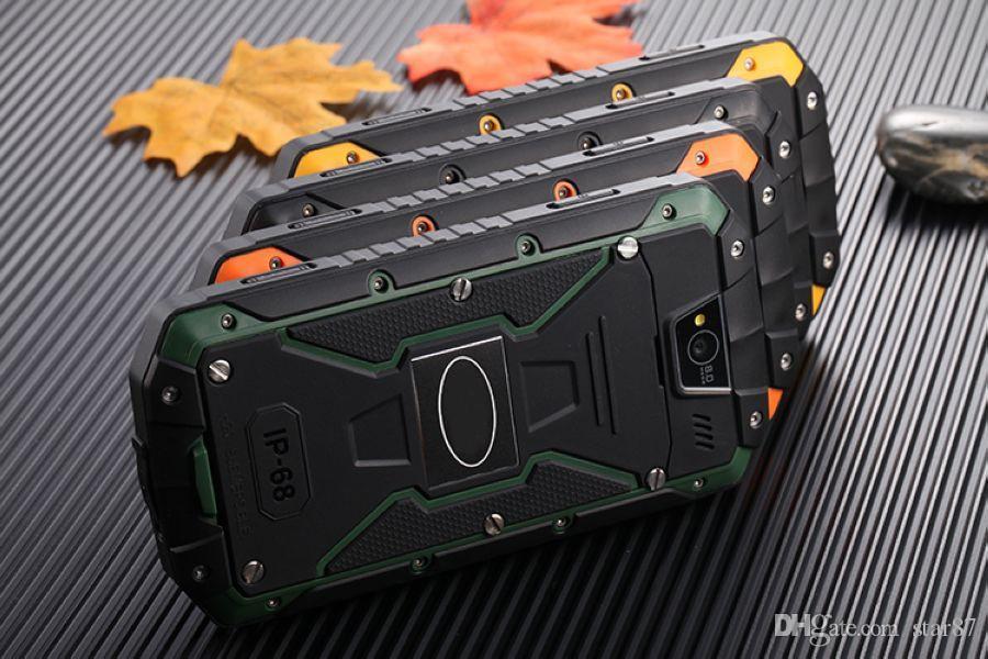 DHL Free Original Discovery V9 IP68 Teléfono robusto MTK6572 4GB ROM WCDMA 3G Impermeable a prueba de golpes Doble tarjeta SIM Celular Teléfono móvil Teléfono inteligente