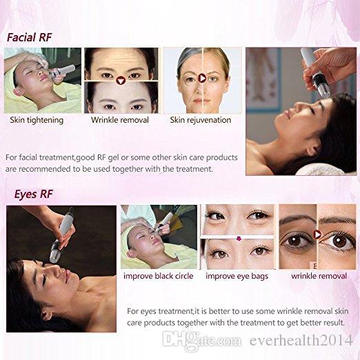 A melhor Qualidade De RF Radiofreqüência Facial Máquina de Beleza Estrela Uso Doméstico Portátil Facial Máquina de Remoção de Rugas Rejuvenescimento Da Pele de Esqui
