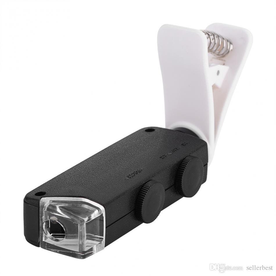 Mobile Phone Lens 60X-100X Optical Zoom LED Microscope Lens Clip Universal