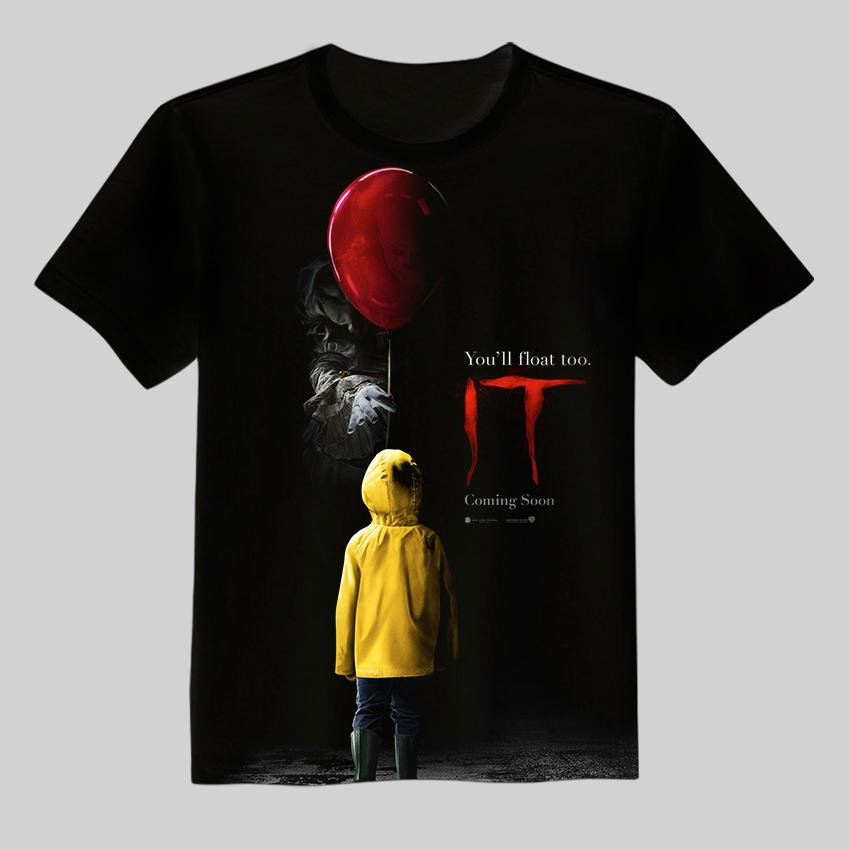 New it pennywise clown stephen king 1990 2017 horror movie for Start an online t shirt business at zero cost