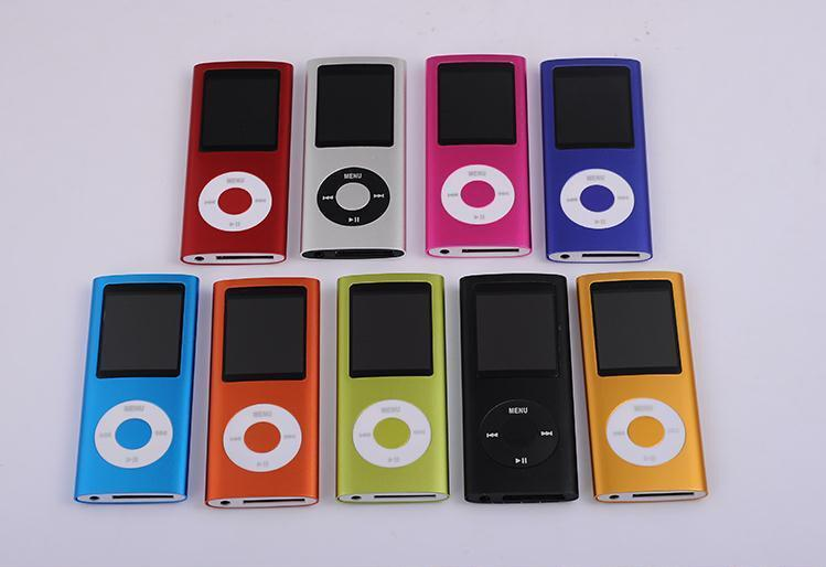 New 4th Gen mp3 mp4 player 32GB 16GB 1.8 inch screen with FM radio recording function Wholesale free DHL shipping