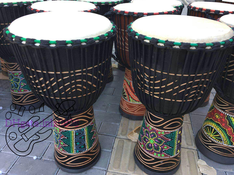 Djembe барабанщик перкуссия ручной барабан классическая живопись деревянный Африканский стиль бесплатная доставка