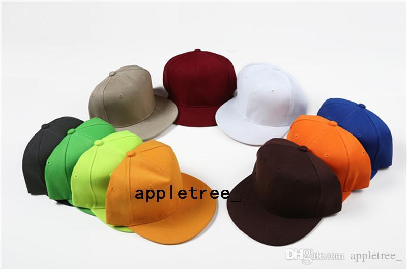 Plain Blank Hut Snapback solide Hüte Snapbacks Baseball Sport Caps Männer Frauen Hip Hop Hiphop Ball Cap Einstellbare Basketball Hut Großhandel heiß