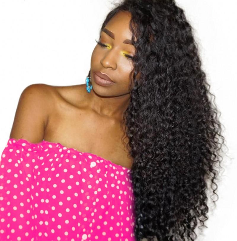 Lace Front Human Hair Wigs For Black Women 8 28 Brazilian Lace Wig Curly  Non Remy Human Hair With Baby Hair FDSHINE Velvet Remy Hair Buy Wig From ... b4109c9a7c
