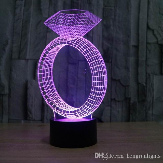 3D сенсорный лампы Красочные огни акриловые 3D Визуальная Иллюзия лампы светодиодные Атмосфера Настроение Night Light