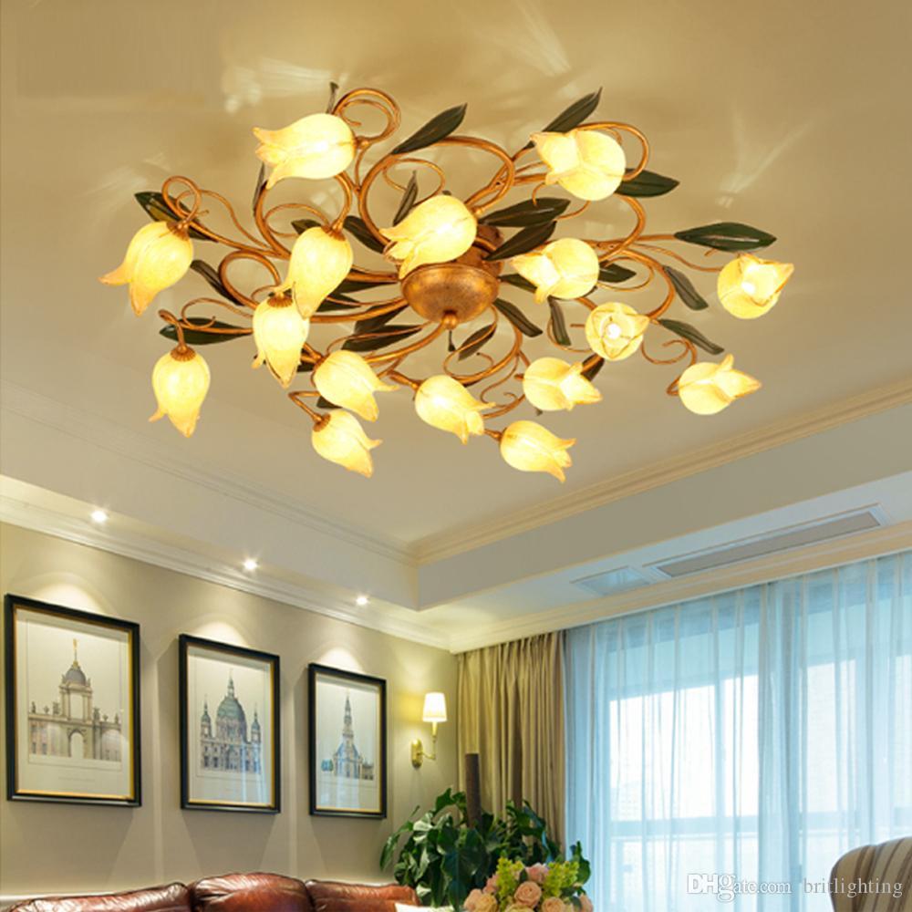 Großhandel Klassische Lampe Kreative Wohnzimmer Led Blume ...
