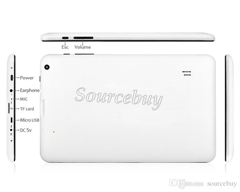 Quad Core 1.5GHz A33 Allwinner 9inch Tablet PC Google Android 4.4 Kitkat Bluetooth 512MB RAM 8GB ROM Dual Cameras Wifi V90
