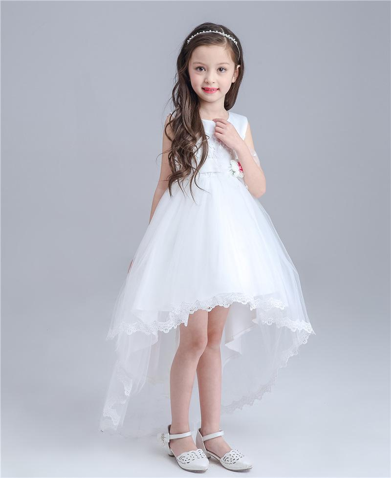 Baby Girls Beach Wedding Dresses Lace Childrens