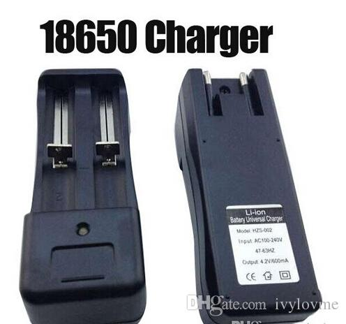 Double charger US EU plug 3.7V 18650 14500 16430 Battery Charger Universal Charger for Rechargeable Li-ion Battery