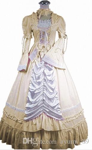 Long Sleeveless südlichen Bell Kostüm Gothic Lolita Kleid viktorianischen Party Halloween Kostüme für Frauen Erwachsene schwarz rot rosa blau gelb