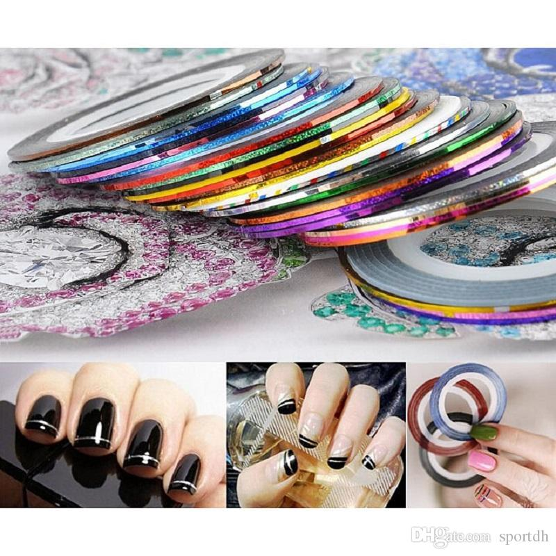 Rolls Nail Diy Strip Tape Nail Art Decoration Line Stickers For Nail ...