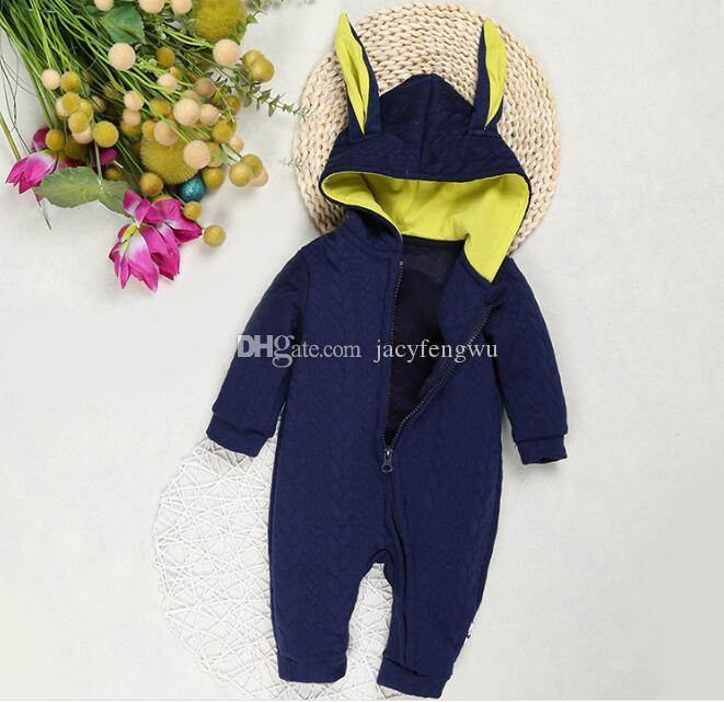 Bébé barboteuse à manches longues pour bébés garçons filles automne vêtements Enfants robe tenue d'hiver Combinaisons Infant Barboteuses Toddler enfants Boutique BB026