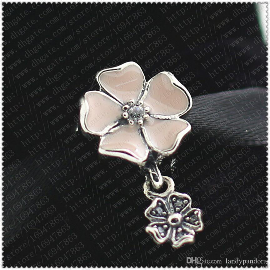 2016 Nova Primavera S925 Sterling Silver Poetic Blooms Charme Bead com Esmalte e Cubic Zirconia Serve Pulseiras Jóias Estilo Europeu Pandora