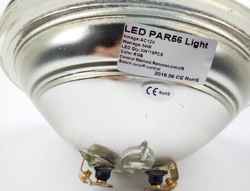 54W RGB подводный свет бассеина Сид AC 12V с дистанционным регулятором переключатель мощности 18x 3W дальше с освещения водопада сада водоустойчивого CE ROSH IP68